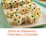 Barra de Malvavisco, Palomitas y Chocolate