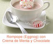 Rompope (Eggnog) con Crema de Menta y Chocolate
