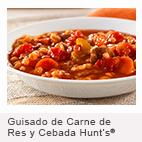 Guisado de Carne de Res y Cebada Hunt's