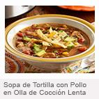 Sopa de Tortilla con Pollo en Olla de Cocci��n Lenta
