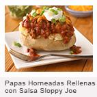 Papas Horneadas Rellenas Con Salsa Sloppy Joe