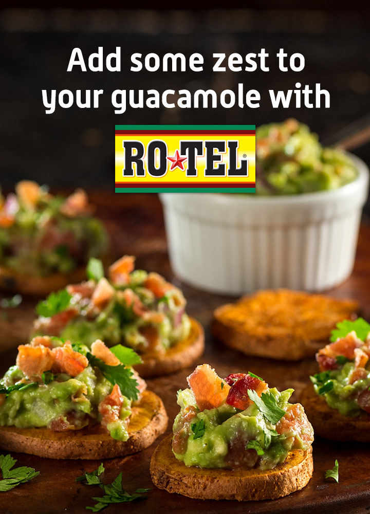 Add some zest to your guacamole with Rotel