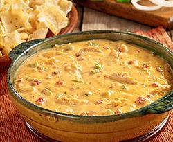 Fajita Chicken Queso Dip