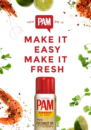 PAM.  Make it easy.  Make it Fresh.